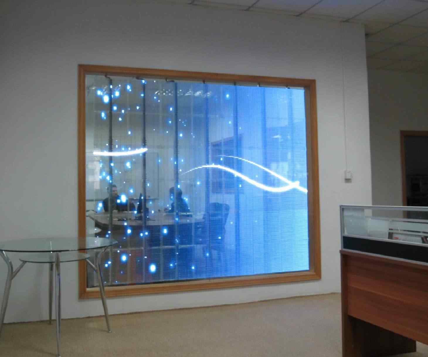 透明led玻璃显示屏图片_led透明玻璃显示屏图片